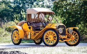Picture Roadster, Yellow, Retro, Model, Pullman, 1910, Metallic, O