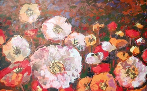 Wallpaper flowers, picture, painting