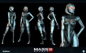 Picture robot, EDI, Susie, Mass Effect3