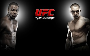 Picture logo, black background, fighters, mma, thiago silva, ufc, fighters, rashad evans, Rashad Evans, mixed martial …