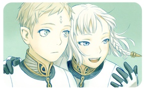 Picture collar, gloves, form, friends, white hair, Last Exile, Exile, Dio Eraclea, Lucciola, by Range Murata