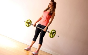Picture woman, pose, workout, fitness