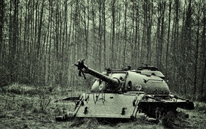 Picture winter, snow, tank