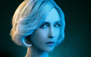 Picture Beautiful, Blue, Wallpaper, Series, Eyes, Effect, Woman, Horror, Year, 2013, Face, Actress, Lips, 2014, Hair, …