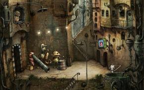 Wallpaper Machinarium, the city, robot