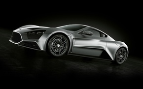 Wallpaper aerodynamics, black, sports car