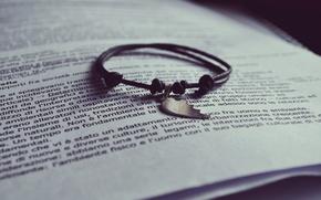 Wallpaper text, half, book, bracelet, page, half