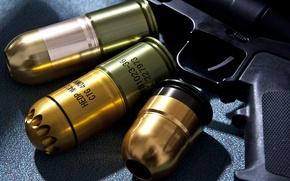 Picture wallpaper, gun, weapon, power, rifle, assault rifle, ammunition, grenade, 40mm, hd