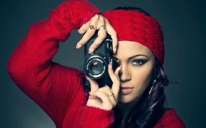 Picture the camera, photographer, Pentax