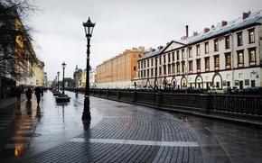 Picture rain, overcast, Peter, Saint Petersburg, puddles, Russia, Russia, SPb, St. Petersburg, spb