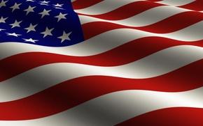 Picture stars, strip, flag, USA, U.S.A.