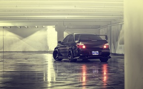 Picture tuning, black, car, subaru impreza, Subaru, wrx sti