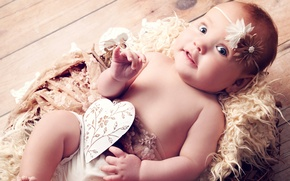 Picture heart, angel, blue eyes, heart, blue eyes, funny, angel, funny, children, beautiful girl, beautiful little …