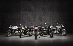 Picture moto, classic, british, Triumph, Bonneville, 2016, Thruxton, Street Twin