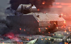 Picture fire, mouse, tank, iron, world of tanks, wot, tank, maus
