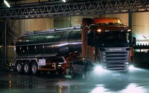 Picture plant, lights, R420, Scania, Highline, tank