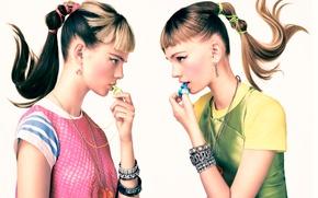 Picture portrait, makeup, profile, Teen Vogue, Sebastian Kim