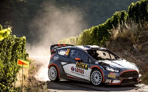Picture Ford, Dust, Turn, Germany, WRC, Rally, Rally, Fiesta, Robert Kubica