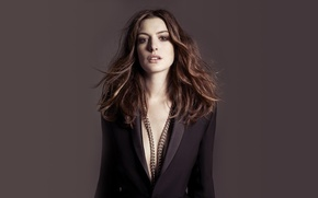 Picture look, actress, chain, Anne Hathaway, actress, Anne Hathaway, celeb