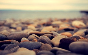 Picture sea, pebbles, stones