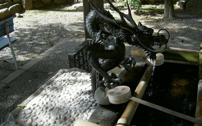 Picture dragon, Japan, well, Japan, Kyoto