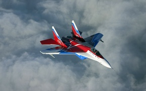 Wallpaper Flight, The sky, Multipurpose, Clouds, Fourth, Generation, MiG-29OVT, Height, Fighter