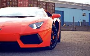 Picture cars, auto, cars walls, orange, supercars, Wallpaper HD, race car, lamborghini lp700-4 aventador, Lamborghini aventador, ...