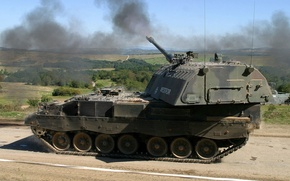 Picture installation, the fire, self-propelled, artillery, PzH 2000, Panzer howitzer 2000, howitzer, armored