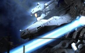 Wallpaper ray, iron, robot