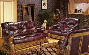 Picture sofa, carpet, hookah, living room, rest room