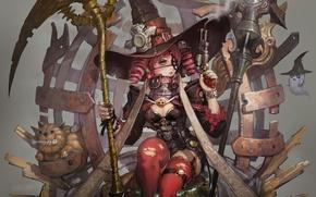 Picture girl, Halloween, Halloween, Art, art
