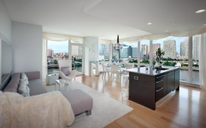 Picture design, the city, style, interior, apartment, living space