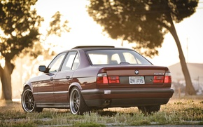 Picture lights, tuning, BMW, classic, stance, 525, bmw e34