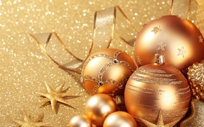 Picture balls, gold, holiday, toys, Shine, new year, sequins, the scenery, happy new year, christmas decoration, …