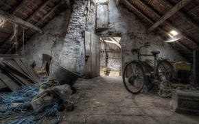 Picture attic, bike, background