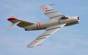 Picture the sky, flight, fighter, jet, Soviet, The MiG-17