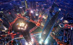 Picture the city, the evening, China, the view from the top