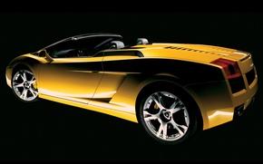 Picture yellow, view, Lamborghini, side