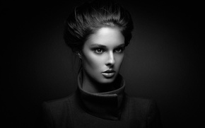 Picture girl, background, portrait, hairstyle, The woman Silver