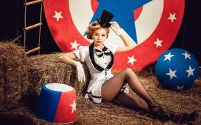 Picture girl, magic, circus, legs, Diana lipkina