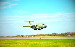 Picture The sky, Day, Russia, Aviation, The Il-76, The rise, Ilyushin, military transport aircraft, Candid, 90A