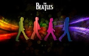 Picture rainbow, beatles, George Harrison, Paul McCartney, John Lennon, Ringo Starr, abby road