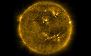 Picture the sun, star, prominence