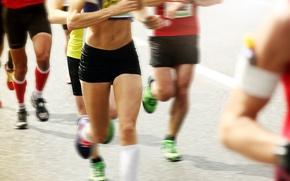 Picture participants, marathon, competence