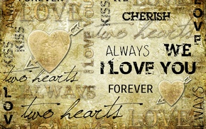 Wallpaper labels, background, heart, arrow, i love you, vintage