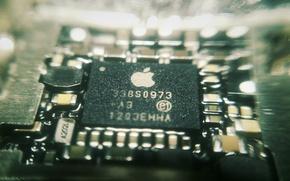 Picture macro, apple, processor