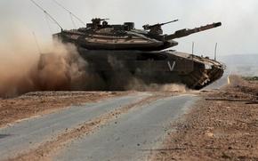 Picture tank, Israel, on the road, Merkava Mk.4
