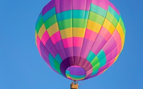 Picture balloon, the sky, basket, flight