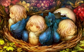 Picture berries, the game, art, socket, baby, Chicks, dragon's crown, crown dragon cute