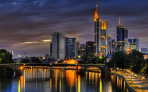 Picture summer, the sky, clouds, dawn, Germany, Frankfurt am main